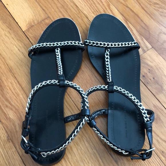 ZARA Chain Sandals